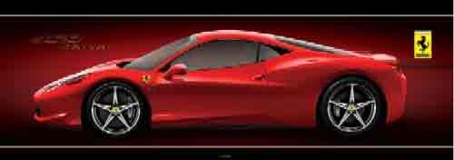 פרארימכונית ספורט אדומה איטליה מהירות פררי פראי פרארי פארארי פאררי יופי פאר הדר  Ferrari ילדים