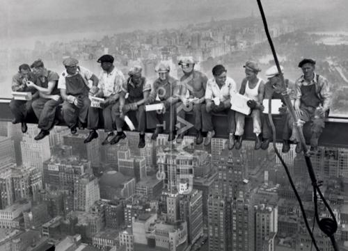 Men On Girdernew york ניו יורק מנהטן פועלים פיגומים