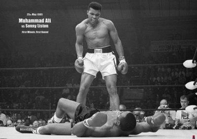 מוחמד עליאיגרוף האבקות זירה אליפות אלופים ספורט ניצחון Muhammad Ali