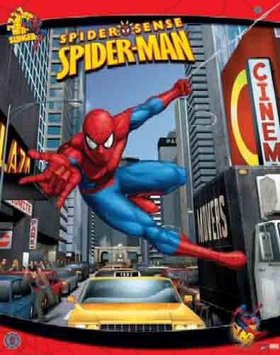 ספיידרמןSpiderman ניו יורק N.Y.C אנימציה דמויות זחילה איש העכביש זוחל ילדים ספידרמן