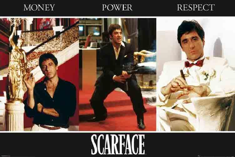 פני צלקתScarface מתח אלימות רצח הרפתקאות סרט בנים