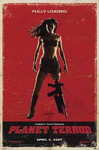 Grindhouseמכונית סרט מתח הרפתקאות אימה פחד בחורה כרזה טרור