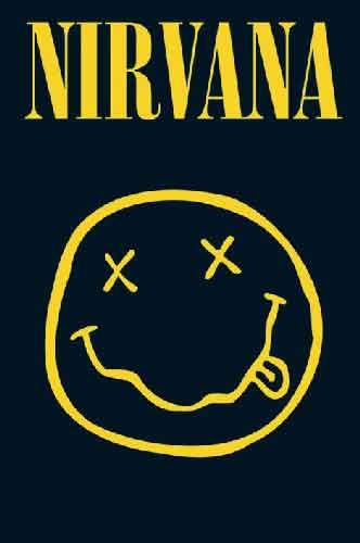 נירוואנהמוסיקה רוק פופ להקה הופעה חיה שחור לבן סמיילי נירואנה נירונה nirvana