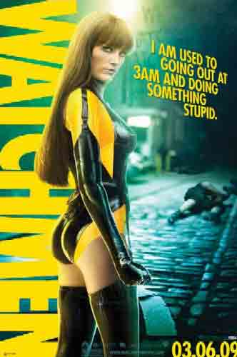 Watchmen מתח אלימות הרפתקאות סרט בנים בחורה סקסית