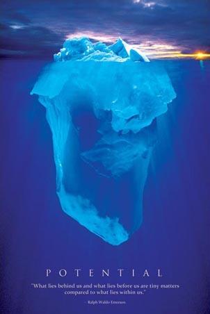 פוטנציאלשאיפה ראיה לרחוק אבנים ים כחול מוטיבציה קרחון potential