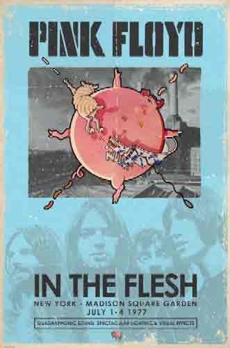 פינק פלוידIn The Flesh pink floyed floid להקה רוק כבד הופעה במה מוסיקה