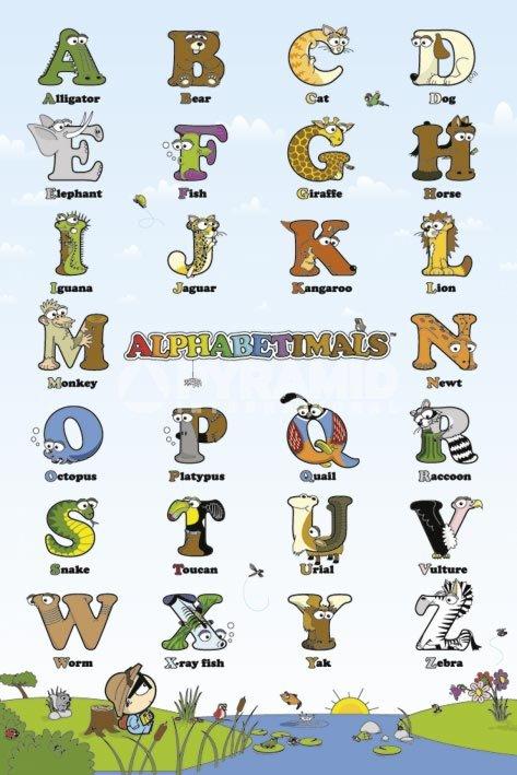 ABC , חמוד, אותיות, ציורים, ילדים, אנגלית, אותיות