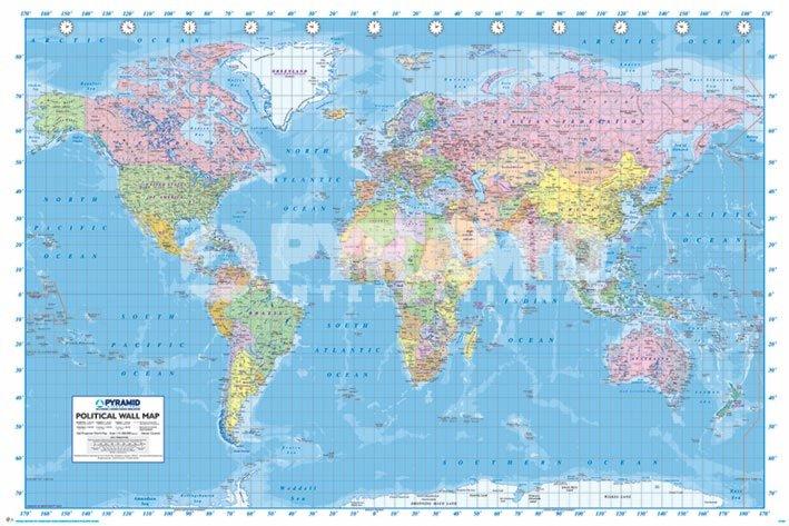 מפת עולם פוליטיתמפת עולם, מפה פוליטית, גלובוס
