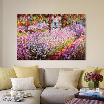 Le jardin de Monet  - מונה - סלוןתמונות לסלון תמונות לבית פרויקטים סט תמונות