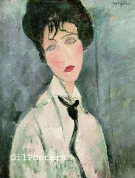 Femme a la cravatte noire - מודליאני