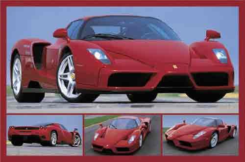 פרארימכונית ספורט כסף כסופה אדום אדומה  מכוניות מרוץ איטליה מהירות פררי פראי פרארי פארארי פאררי יופי פאר הדר  Ferrari ילדים