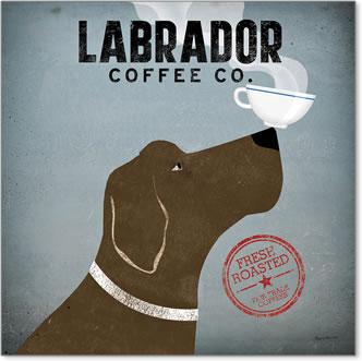 קפה כלב לברדורכרזה, וינטג', כלב, קפה