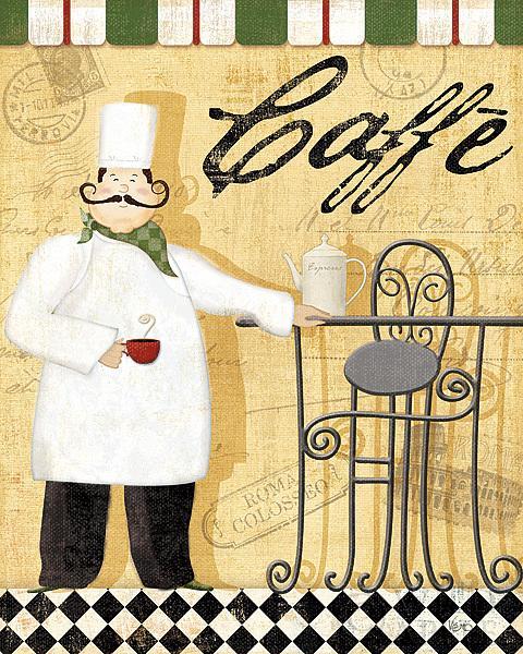שף בהפסקה 3ביסטרו, שחור ולבן,שחמט, הפסקה, קפה, שף, צרפתי, שפם, בקבוק יין, כוס יין, מילים
