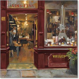 חנות פריזאיתחנות יין, פריז, צרפת, רחוב, חזית, חנות