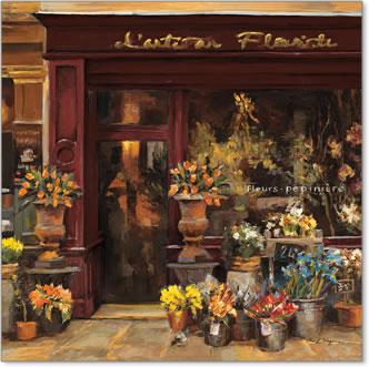 חנות פריזאיתחנות פרחים, פריז, צרפת, רחוב, חזית, חנות