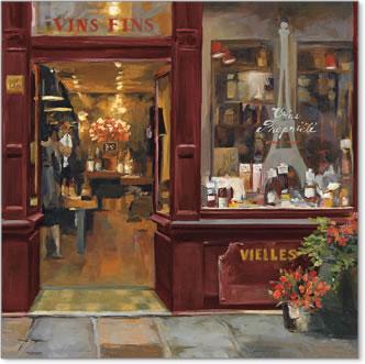 חנות פריזאית 2חנות יין, פריז, צרפת, רחוב, חזית, חנות