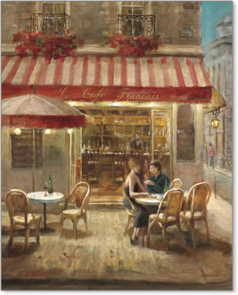 קפה פריז 2זוג, קפה, פריז , כיסאות, שולחנות, אווירה, יציאה, דייט
