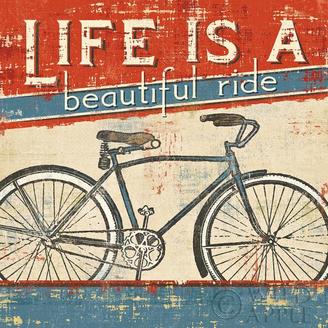 וינטג', אופניים, נסיעה, החיים הם נסיעה יפה, מיושן, טקסט
