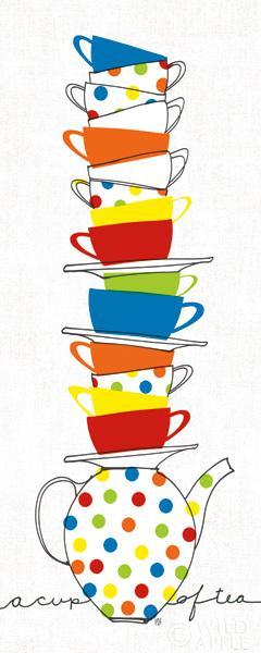 ערימת ספליםכחול,, קפה, ספל, ספלים, מטבח, נקודות פולקה, צהוב, תה