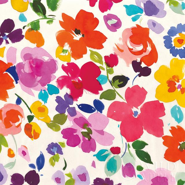 פרחים בצבעים בוהקיםכחול, נועז,  צבעוני, פרחים, ירוק, פרחוני, אביבי, אביב, אדום, ורוד, כחול, ירוק