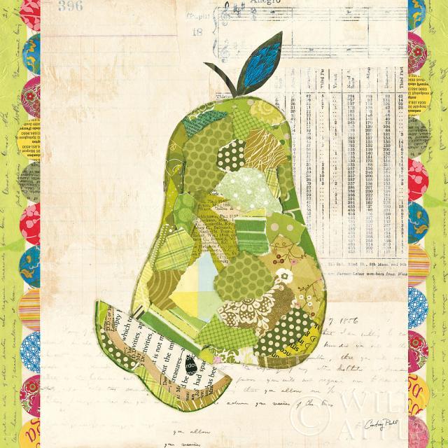 קולז' פירות-אגסתמונות של פירות ירקות  אגס, קולאז, פירות, צבעוני, טקסט, איור