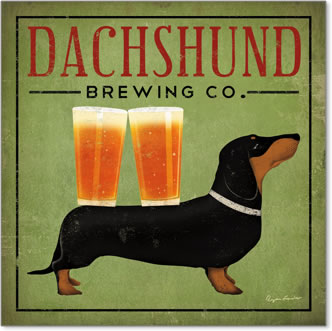 בירה - כלב תחשכלב, פרסומת, אלכוהול, בירה, וינטג', תחש, דקל, דשהאונד
