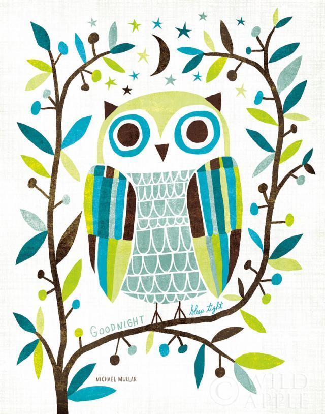 ינשוף לילי 2אוכמניות, ציפור, ציפורים, כחול, ינשוף, ציפור לילה, ענפים, עצים, חום, גיאומטרי, אפור, עלה, עלים, עץ , מודרני, ירח, לילה, כוכבים