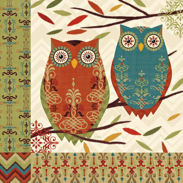 ציפור, ציפורים, כחול, ענפים, חום, קרם, גאומטרי, ירוק, עלה, עלים, ינשוף, ינשופים, דוגמא, טקסטורה, אדום, כתום