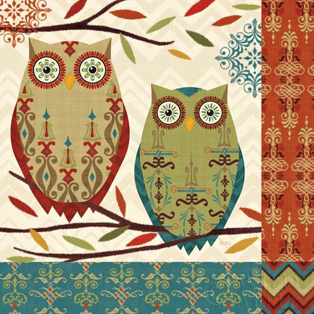 צפירה 2ציפור, ציפורים, כחול, ענפים, חום, קרם, גאומטרי, ירוק, עלה, עלים, ינשוף, ינשופים, דוגמא, טקסטורה, אדום, כתום