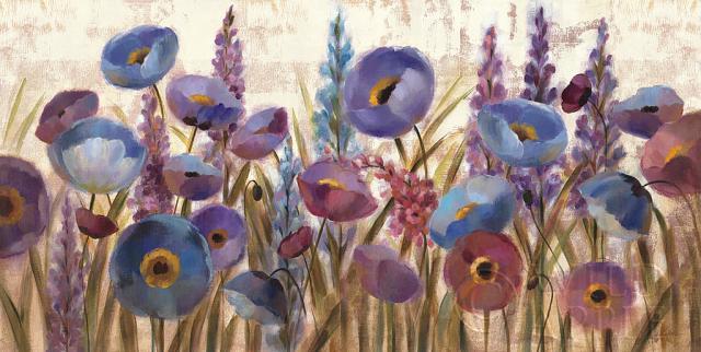 תורמוסים ופרגיםבז', כחול, פרחוני אביבי, שדה, אביב, פרח, פרחים, גינה, ירוק, לוונדר, עלים, עלי כותרת, אחו, נוף,