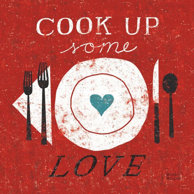בישול אהבהתמונות של מזון  בישול, לבשל, לאכול, צלחת, אוכל, לבבות, לב, מטבח, אהבה, אדום, רטרו, תכלת, סכו