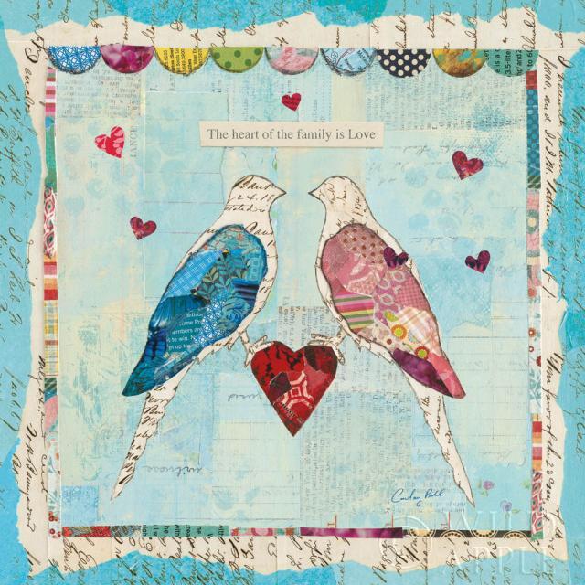 ציפורי אהבה כחולות 2חיות, ציפורים, ציפורים בקן, קן, כחול, חום, קולאז', משפחה, גוזלים, ירוק, לב, אהבה, ציפורי אהבה, מיקס מדיה, עיתון, נייר , ורוד, ציפורי שיר, תכלת, ריבוע,