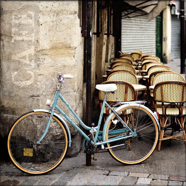 קפה ואופנייםאופניים, קפה, בית קפה, כיסאות, סצינת בית קפה, שולחן קפה, צרפת, פריז, צילום, תמונה
