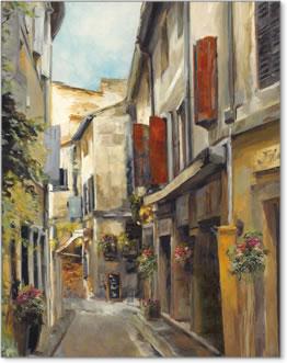 העיר העתיקהנוף עירוני מרפסת בית רחוב