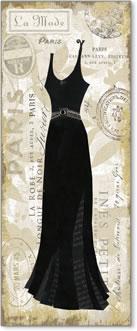 שמלה שחורה, וינטג', פריז, אופנה, עיצוב,