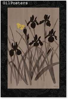 פרפר צהוב ופרחים 2רומנטי עיצוב מודרני מינמליסטי
