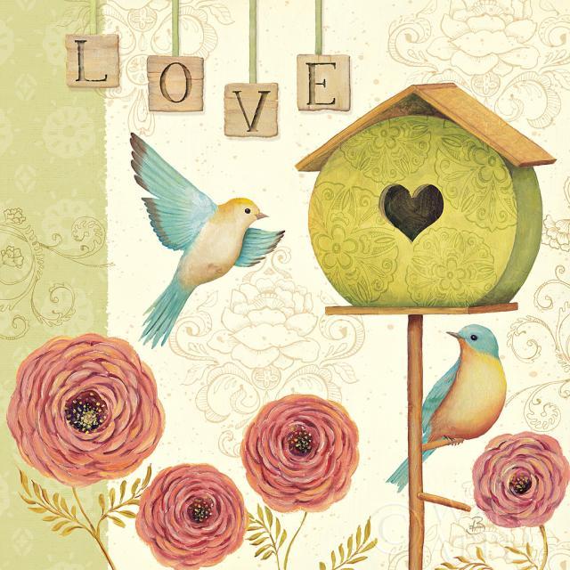 ברוכים הבאים הביתהוינטג', ורדים, שושנים, שובך, ציפורים, ציפור, רומנטי, אהבה