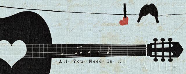 שורה מהפזמוןגיטרה, תוים, מוסיקה, כחול, דקורטיבי, ציפור, נעים,לב, ציפורים