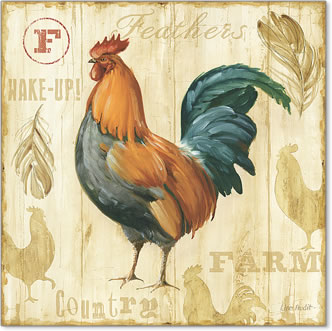 תרנגול יפה 2תרנגול, וינטג', ישן, קישוט,  עוף , ציפור