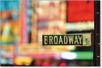 ברודוויאורות צבעוניים שלט ניו יורק תמונה