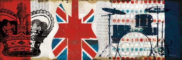 פלישה בריטיתכחול, בריטי, אנגלי, קולאז', תופים, כתר, אנגליה, דגל, פלישה, מוסיקה, אדום,