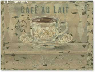 כוס מטבח כרזה  קפה