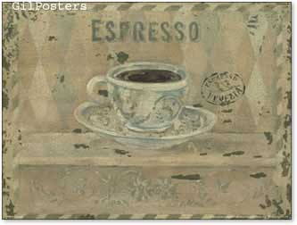 אספרסוכוס מטבח כרזה קפה קצר