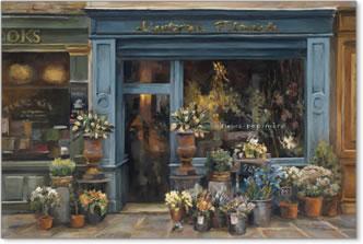 חנות פרחי האמןחנות פרחים, חזית רחוב, צרפתי, פריזאי, וינטג'