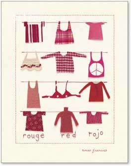 תלוי על חבלבגדים נאיבי  אדום כביסה חבל אווירה ילדותי ילדים