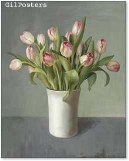 פרחים רומנטייםפרחים עיצוב אהבה רומן צבעוני טוליפ אגרטל
