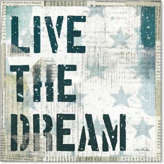 חלום אמריקאיכוכבים ירוקים, דקורטיבי, מוטו, טקסט,חלום , משפט