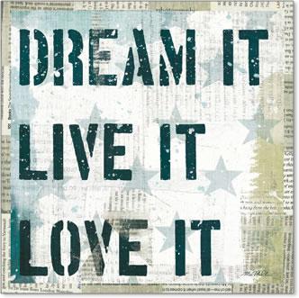 חלום אמריקאי 2כוכבים ירוקים, דקורטיבי, מוטו, טקסט,חלום , משפט