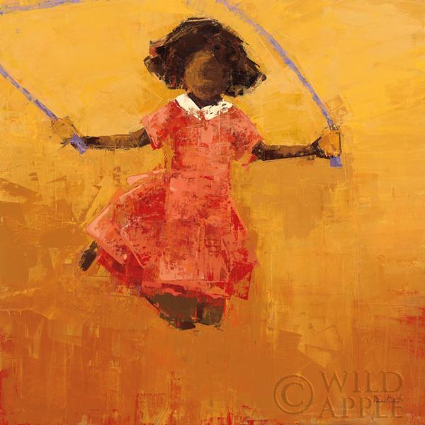 קפיצה בחבלילדה, קפיצה בחבל , כתום, שמלה ורודה