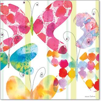 ריבוע של פרפרים 1פרפרים, נאיבי, חותמות, עדין, צבעוני , פסטלי, ילדים